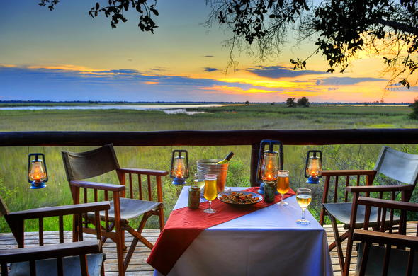 Sip a glass of beer and mouthwatering meal while witnessing the sunset on the deck.