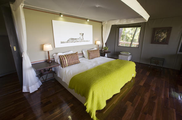 Comfortable accommodation in Okavango Delta.