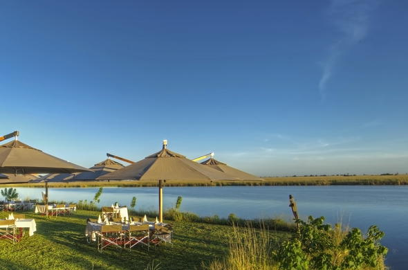 Enjoy lunch by the Chobe River.