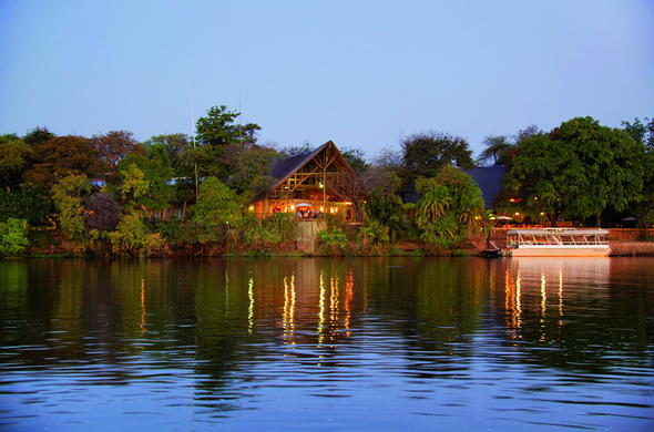 Chobe Safari Lodge is located on the Chobe River.