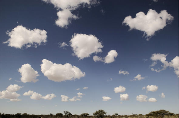 Clouds over the Kalahari