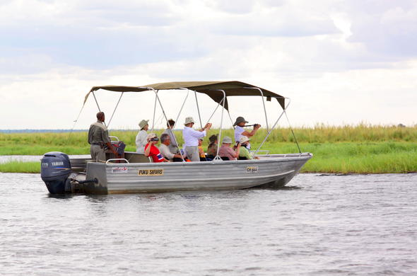Boat safaris on Chobe River.