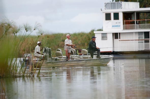 Fishing with Ngwesi houseboat on the Ojkavango