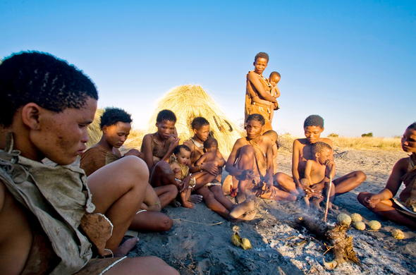 Cultural interaction with the San people.