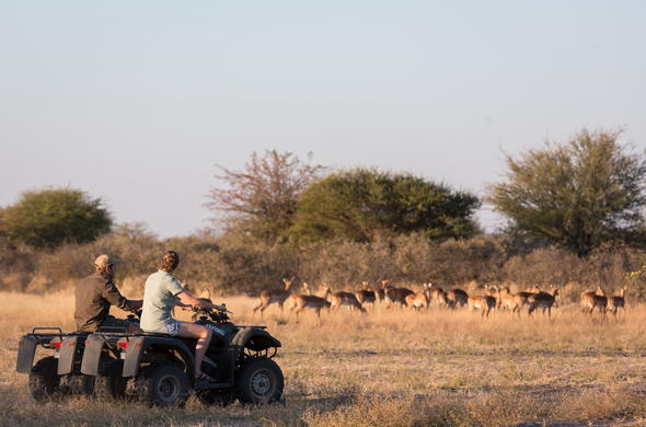 Quad Biking in the Kalahari.