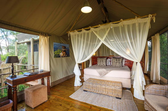 Stunning tented accommodation at Jacana Camp..