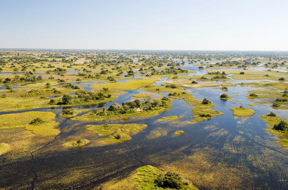 Okavango Delta waterways in Botswana.