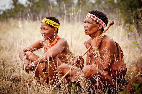 Khoisan people of the Kalahari.