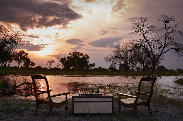 Sundowners at rivers edge