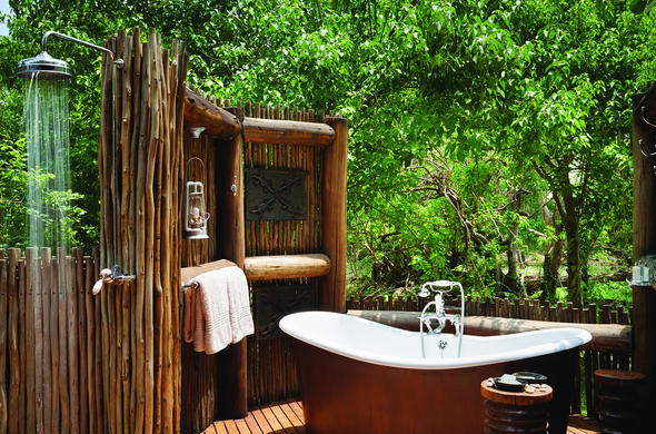 Khwai River Lodge bathroom.