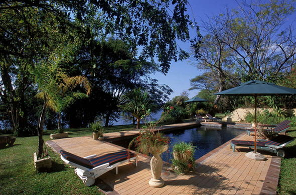 Relax at your lodge near Chobe National Park.
