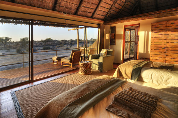 Glorious bush views from the twin-bedded room at Leroo La Tau.