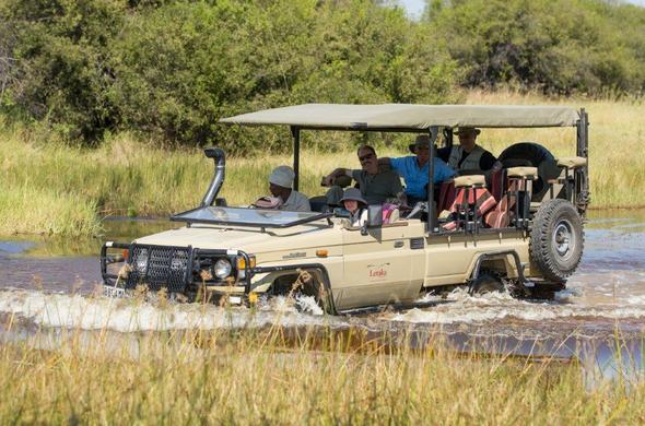 Off-road game drives on your safari in Botswana.