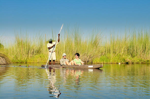 Mokoro safari at Footsteps Camp. Okavango