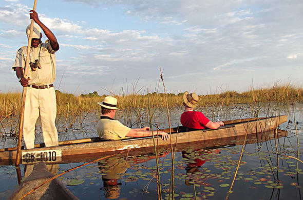 A leisurely moko safari in the Okavango Delta.