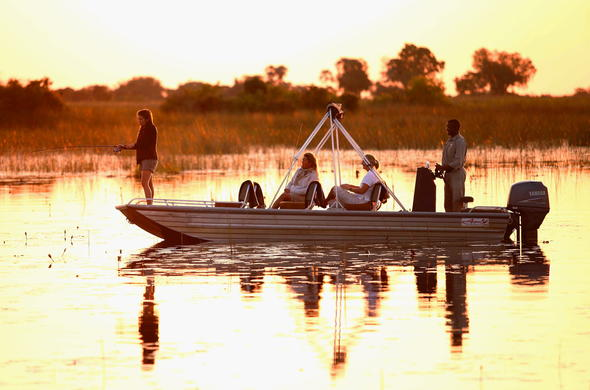 Fishing adventures in the Okavango Delta.