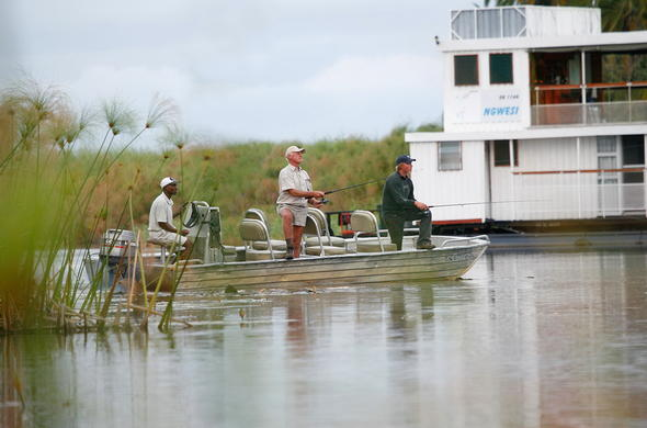 Fishing in the Okavango Delta.
