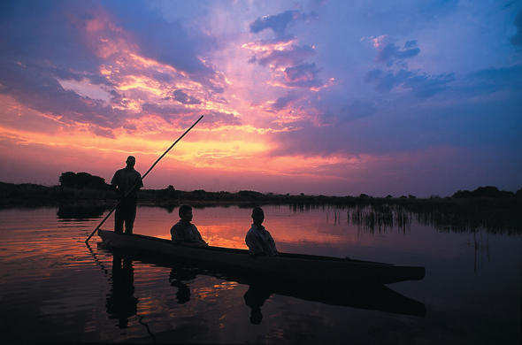 Okavango at sunset