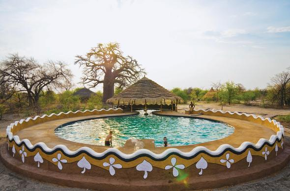 Escape the African heat by slipping into the refreshing pool.