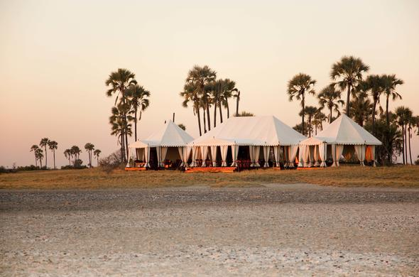 Luxurious safari tents at San Camp.