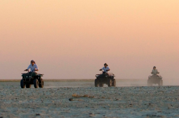 Taking in the sunset on a quad-biking experience. at San Camp