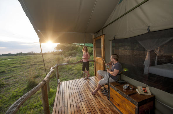 Sango Safari Camp game viewing deck.