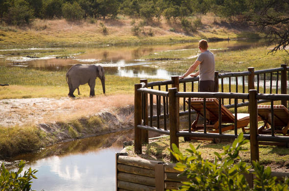 Private game-viewing at Elephant Lodge in Savuti