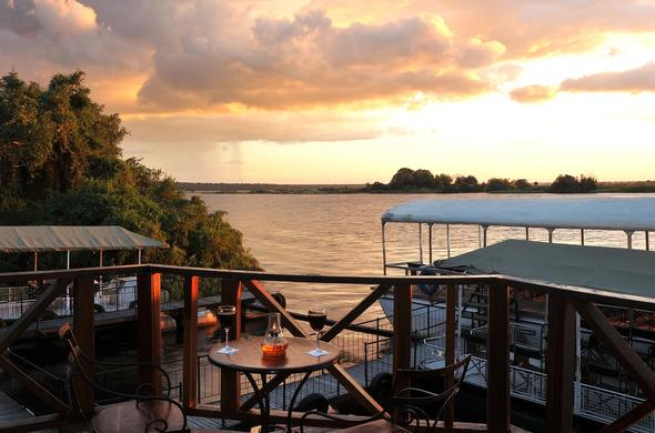 Sunset at Chobe Marina Lodge