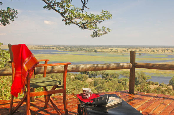 View over the Chobe River flood plains from Muchenje Safari Lodge