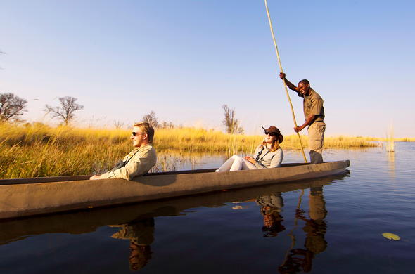 Mokoro ride through the Okavango Delta.