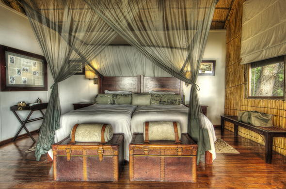 Accommodation with touches of a bygone era at Xugana Island Lodge.